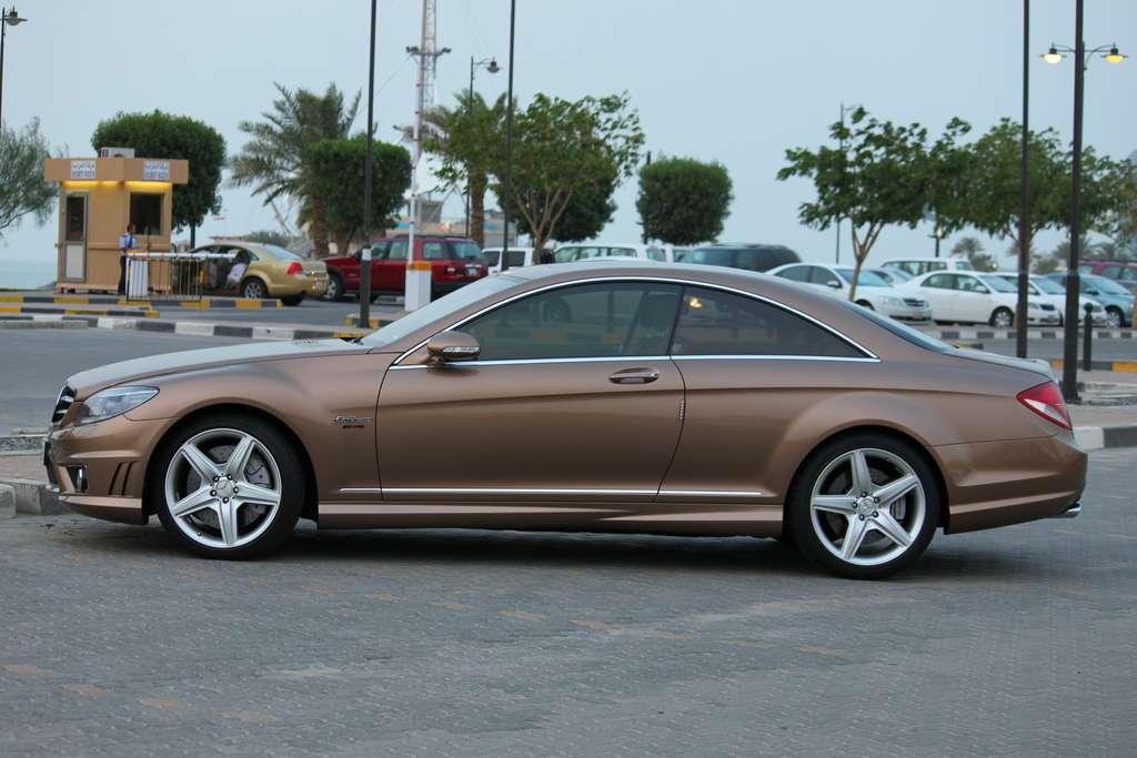 Super cars news mercedes benz cl 63 amg designo mystic for Brown mercedes benz