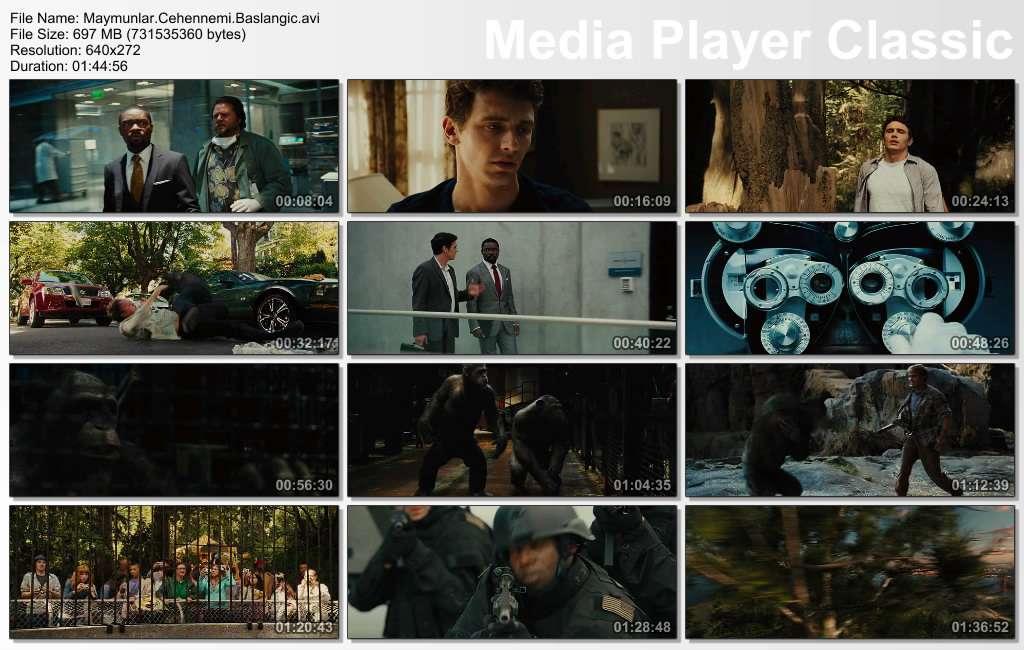 Maymunlar Cehennemi: Başlangıç - 2011 BRRip XviD - Türkçe Dublaj Tek Link indir