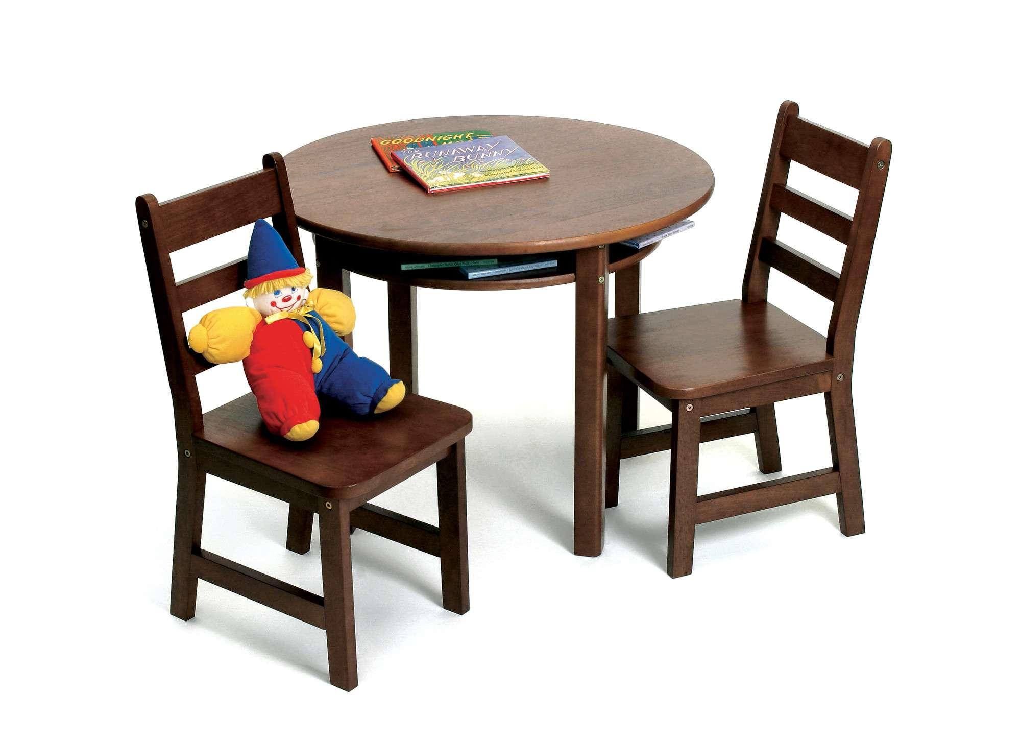 Mesa infantil color nuez 2 sillas estudio deluxe vv4 - Mesa estudio infantil ...