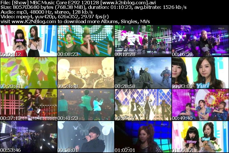MBC Music Core E292 120128
