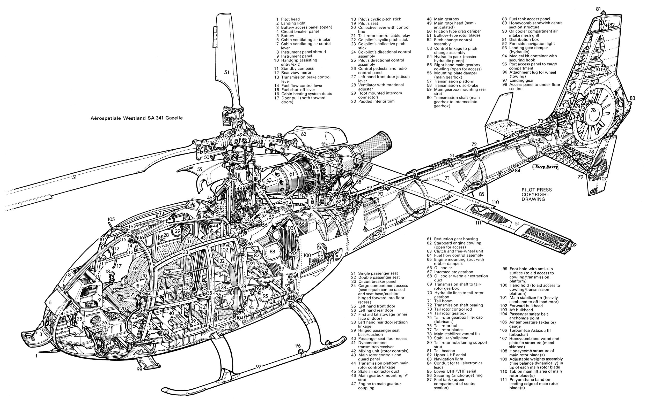 chinook helicopter cutaway diagram